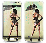 Sexy Girl Pattern Front and Back Protector Stickers for Samsung Galaxy S4 mini I9190