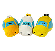Cute POST Taxi Shaped Plush Toy for Pets Dogs (Assorted Colors)