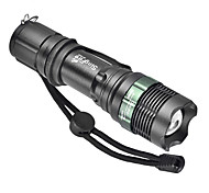 LED Flashlights / Handheld Flashlights LED 3 Mode 1000 Lumens Adjustable Focus Cree XM-L T6 18650 / AAACamping/Hiking/Caving / Everyday