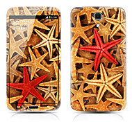 Starfish Pattern Front and Back Protector Stickers for Samsung Galaxy Mega 6.3 I9200