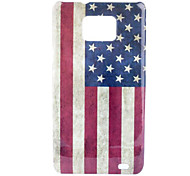 Retro Style US National Flag Pattern Hard Case for Samsung Galaxy S2 I9100