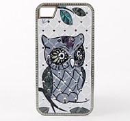 Angry Owl Pattern Diamond Look Hard Case for iPhone 4/4S