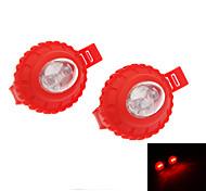 2 LEDs Bicycle Safety Tail Light Set 0152
