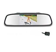 Espejo retrovisor de coche con 4.3 pulgadas TFT-LCD Display estacionamiento de reserva con la cámara