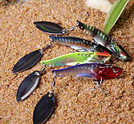New Designed Colorful Fishing 3-Hooks with Fish-Shaped Spinning Shining Metal Lure(10g,15g; Color Ramdon)
