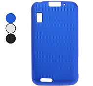Mesh Hard Back Cover Case for MOTO MB860 (Black,White,Blue)