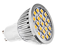 GU10 3W 21 SMD 5050 240 LM Warm White MR16 LED Spotlight AC 110-130 / AC 220-240 V