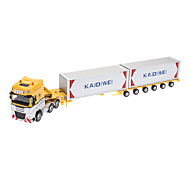 620022 Two Carriages Carrier Vehicle Metal Toy (Blue,Yellow,Red)