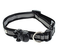 Dog Collar LED Lights Black Nylon