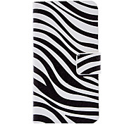 Zebra-Muster Full Body Gehäuse mit Card Slot und Built-in PC Matt Back for iPhone 4/4S Abdeckung