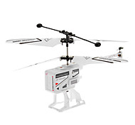 3.5 Channel White Foldaway Remote Control Helicopter with Gyro