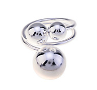 Lureme®925 Sterling Silver Plated Bubble Wire Ring
