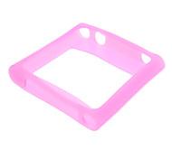 Silicone Soft Rose Bumper Frame for iPod nano 6
