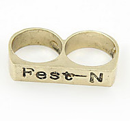 New European And American Fashion Personality Unisex Retro Bicyclic Ring