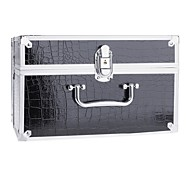 New Pro Makeup Artist Cosmetic Train Case Bag Box Set Code Lock Aluminum