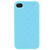Cute Alphabet Pattern Hybrid TPU Soft Case with PC Bumper Frame for iPhone 4/4S