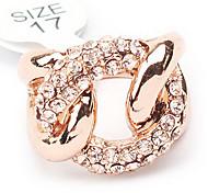 Gold Plated Rhinestone Twist Ring