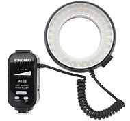 MR-58 5500K 58-светодиодный Белый свет Macro Ring Flash Light для Nikon / Canon DSLR камеры (2 х АА)