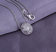 Round Silver Pendant  (Pendant Only)