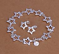 Green copper bracelets earrings LKNSPCS146 Ten Stars