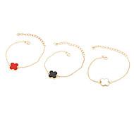Sweet Clover Bracelet Gold Edge Bracelet