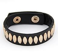 Simili-cuir à la mode avec le bracelet de rivet d'alliage de femmes (plus de couleurs)