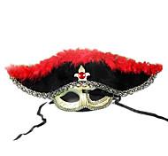 Tuerto Pirate media mascarilla para la fiesta de disfraces de Halloween