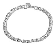 The chain silver bracelet