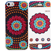 National Style Pattern While Calling Or Called 8 Pin Flash Led Case for iPhone 5/5S