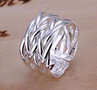 Жен. Классические кольца Уникальный дизайн переплетенный бижутерия Регулируется Открытые Серебрянное покрытие Сплав Бижутерия Бижутерия