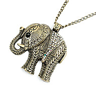 Korean version off the retro fashion elephant sweater chain N321