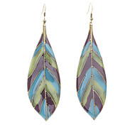 New Fashion Colorful Drip Leaves Earrings