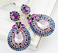 Women's  Blue Gemstone WaterDrop Earrings