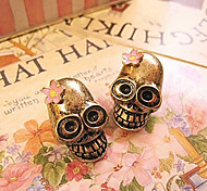 Skull Personality To Do The Old Retro Flower Earrings Earrings E692