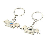 A Pair Angel Envelope Style Lovers Keychains