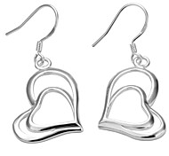 Fashion Double Hearts Design Earrings
