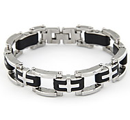 Fashionable Alloy Men's Cross Bracelet