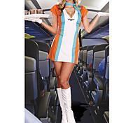 Genial Airline Mädchen-Orange Stewardess Uniform