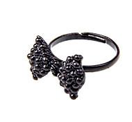 Women's Retro Bow Black Diamond Ring