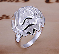 Silberne Rose Ring