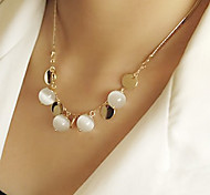 Women's Bohemian fashion opal necklace N459