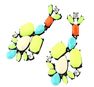 Candy scarab earrings