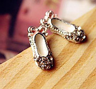 Hot bud creative cute bow shoes little shoes Round Diamond Stud Earrings models E105