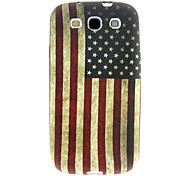 US Flag Soft Case Cover + Clear LCD + USB + Silber Stylus für Samsung Galaxy S3 i9300