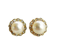 Earring Stud Earrings Jewelry Women Party / Daily Pearl White