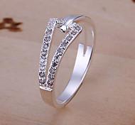 Glänzende Strass Ring