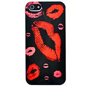 abs labbra rosso stampa fondello modello per 5/5s iphone