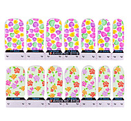 YeManNvYou®24PCS Flower Full Cover Nail Stickers(2 Mixed Pattern,2x12PCS)