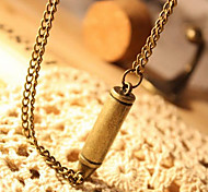 European and American vintage bronze bullet necklace N69