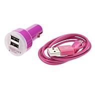 Mini cargador de coche DC con cable de datos Cable USB para Samsung Galaxy S3 I9300